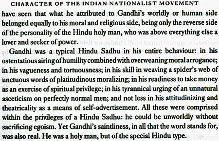 Nirad Chaudhuri on Gandhi