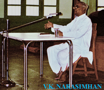 Sathya Sai Baba's journal editor, former Indian Express Chief Editor, V.K. Narasimhan