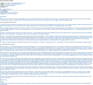 Divya's dissident e-mail to Barry Pittard scanned - on Robert Priddy's blog
