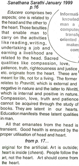 The head and the heart contrast of Sathya Sai Baba as discussed by Robert Priddy