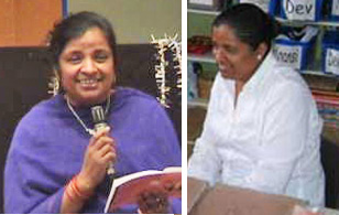 images of Usha Lim, head teacher at Sathya Sai School, Leicester