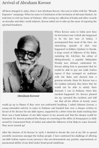 BASAVA PREMANAND ON ABRAHAM KOVOOR'S 'MIACLE EXPOSURE' CAMPAIGN