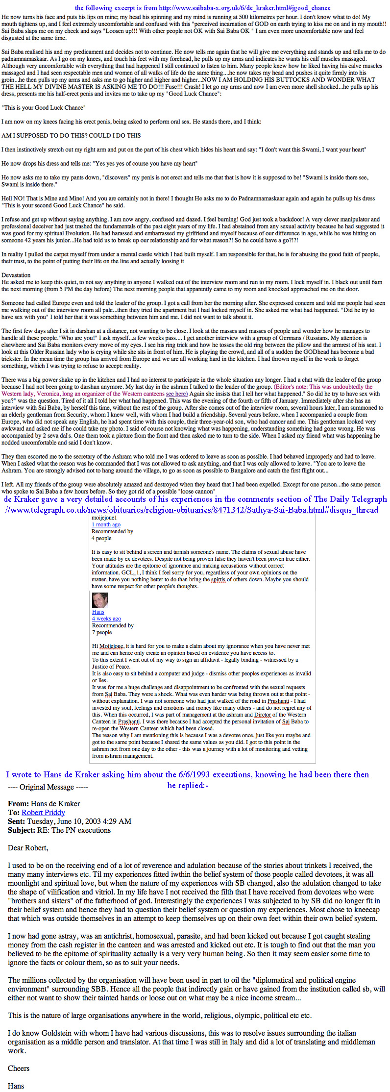 Sathya Sai Baba's discourses: gross falsification by editors | Sai