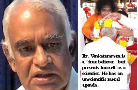 Dr. G. Venkataraman, favourite nuclear bomb physicist of Sai Baba