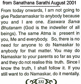 Scan of Sai baba's weasel words in 2002