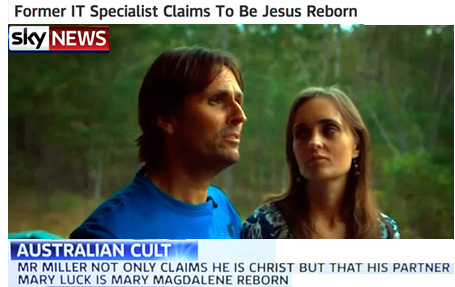 Man claims he is Jesus reborn and his girlfriend is Mary Magdalena!