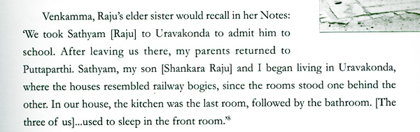 scan from the book Love is My Form by Padmanabhan. Page 87
