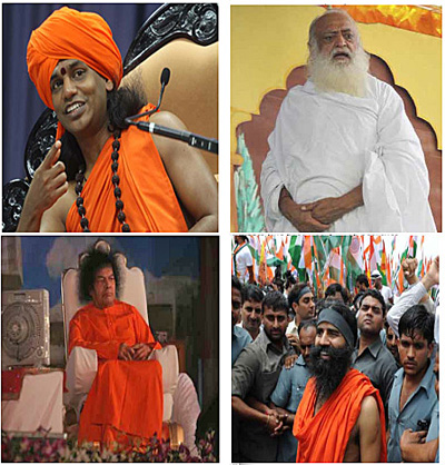 Swami Nityananda, Asaram Bapu, Sathya Sai Baba & Swami Ramdev - all sexual abusers and deceivers
