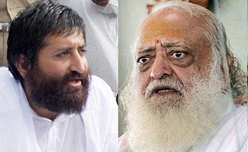Narayan Sai (left), son of Asharam Bapu (right)