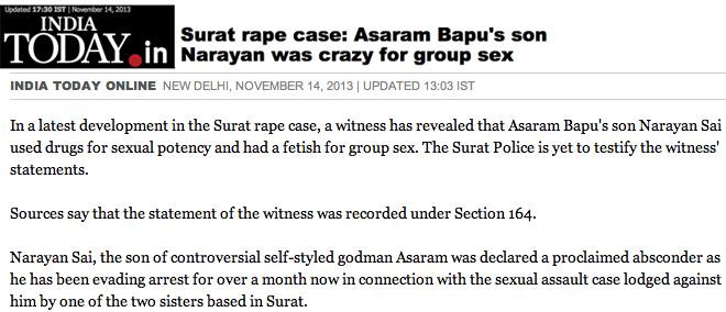 Narayan Sai group sex lust
