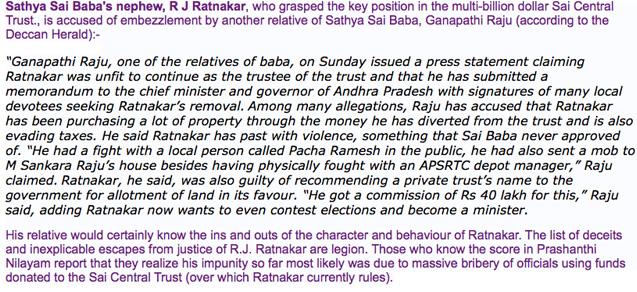 Scan of blog information on Ratnakar