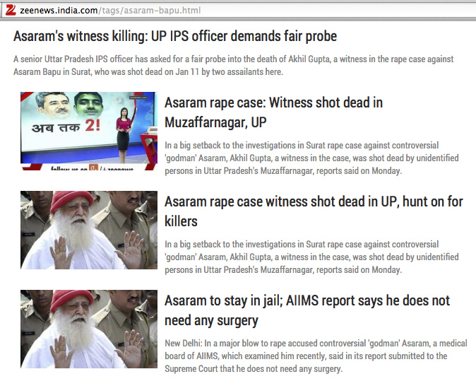 Asaram's rape case witness shot dead!