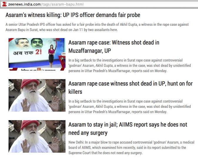 Asaram's rape case witness shot dead!