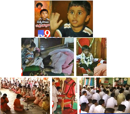 4-YEAR OLD CHILD WORSHIPPED AS PREMA SAI